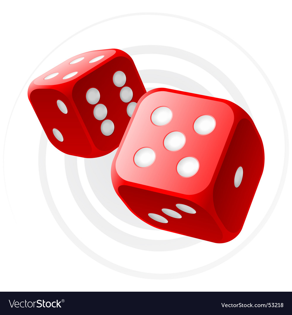 Red dices vector image