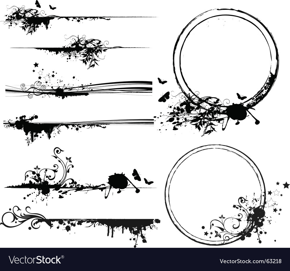 Design elements frame vector image