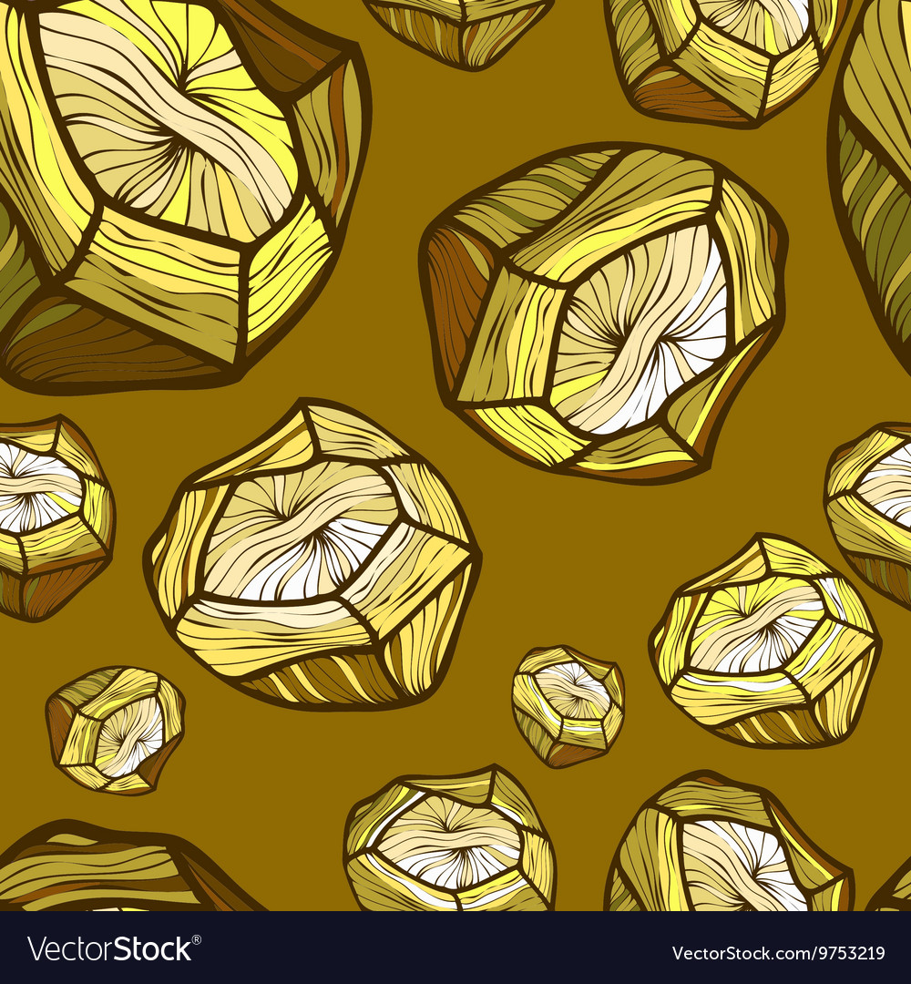 Seamless pattern with the image of a gold vector image