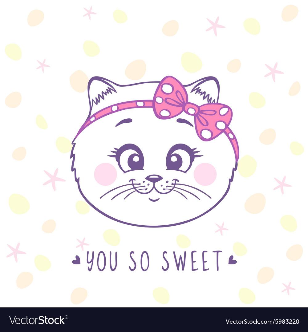Kitten sweet vector image