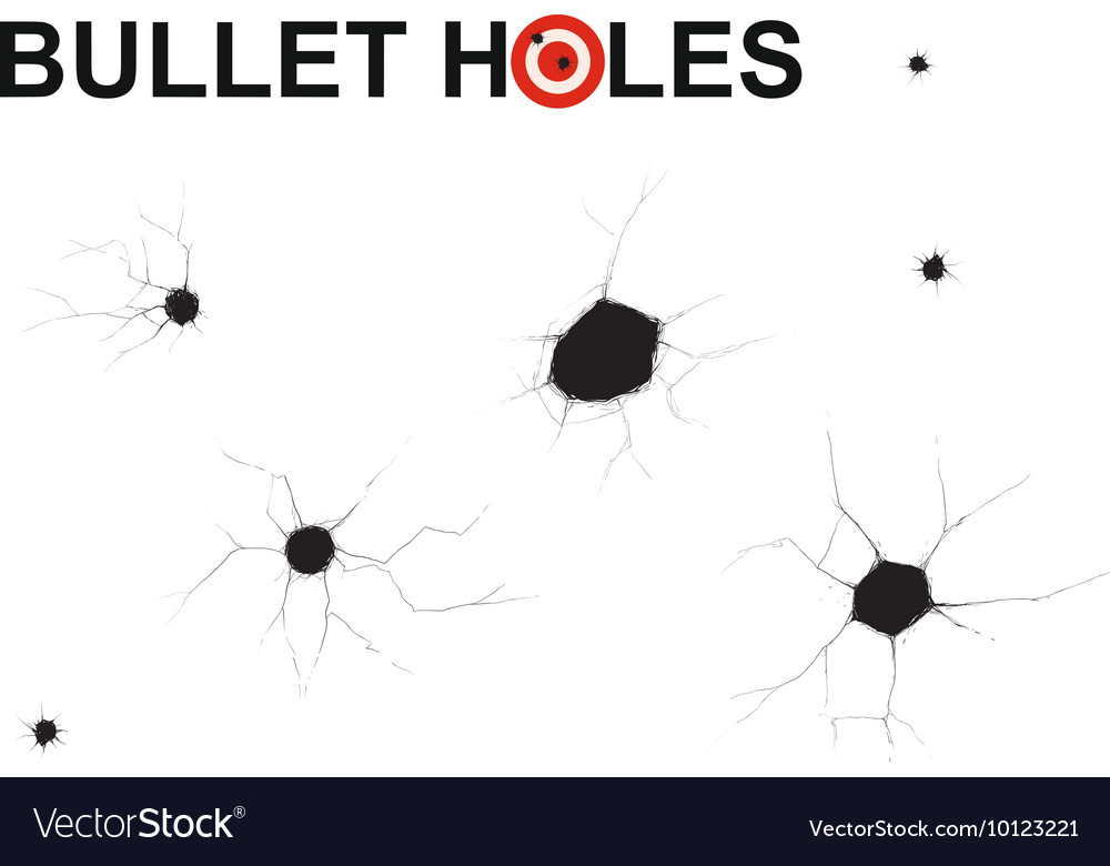Bullet holes doodle vector image