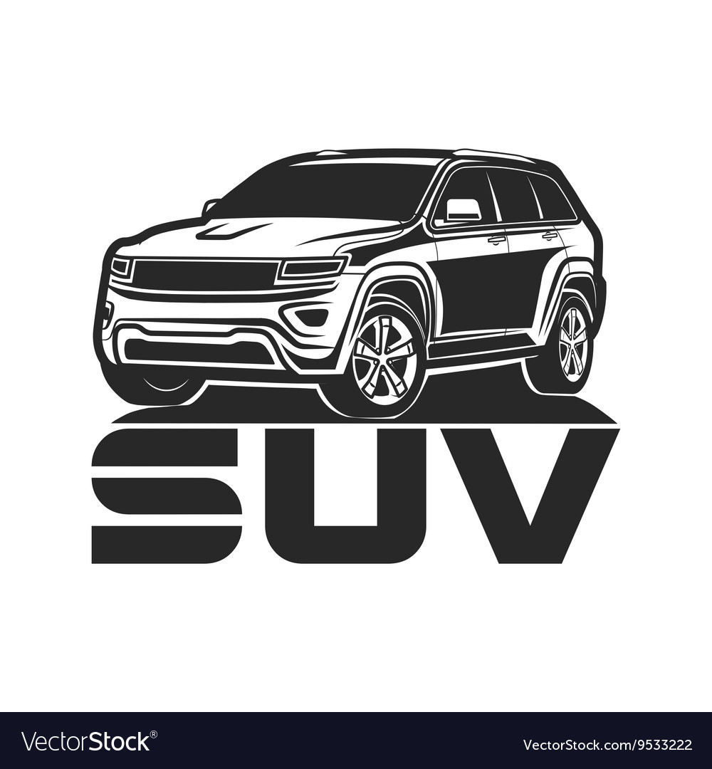 Suv Car Icon Logo Design Royalty Free Vector Image