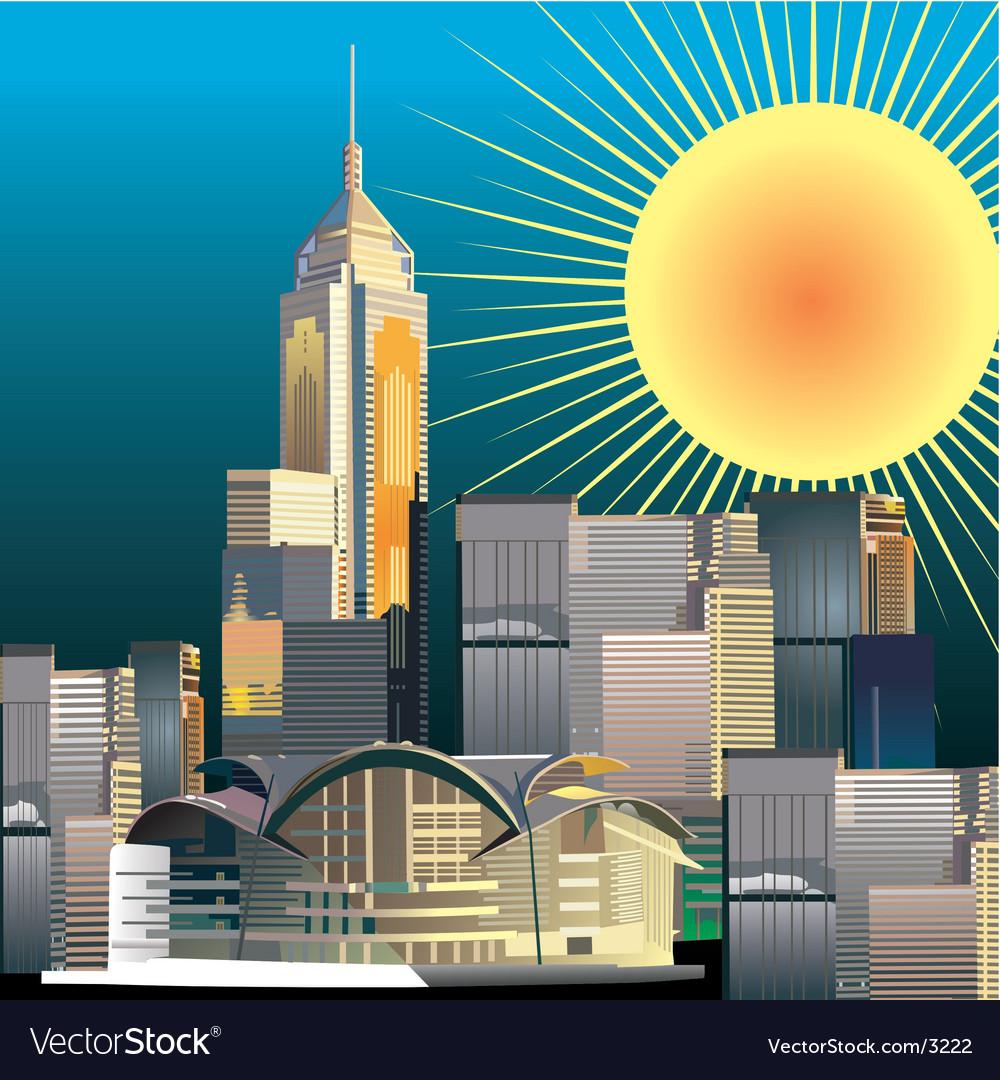 Urban city illustration vector image