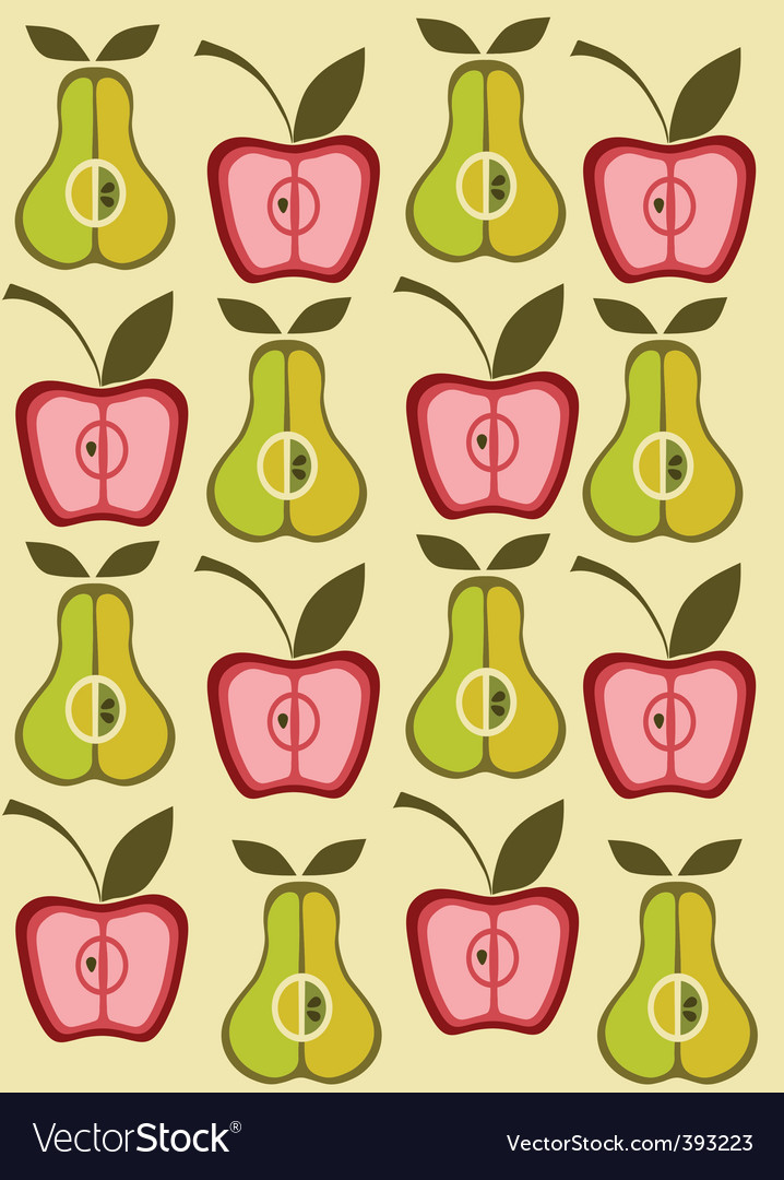 Vintage pear background vector vector image