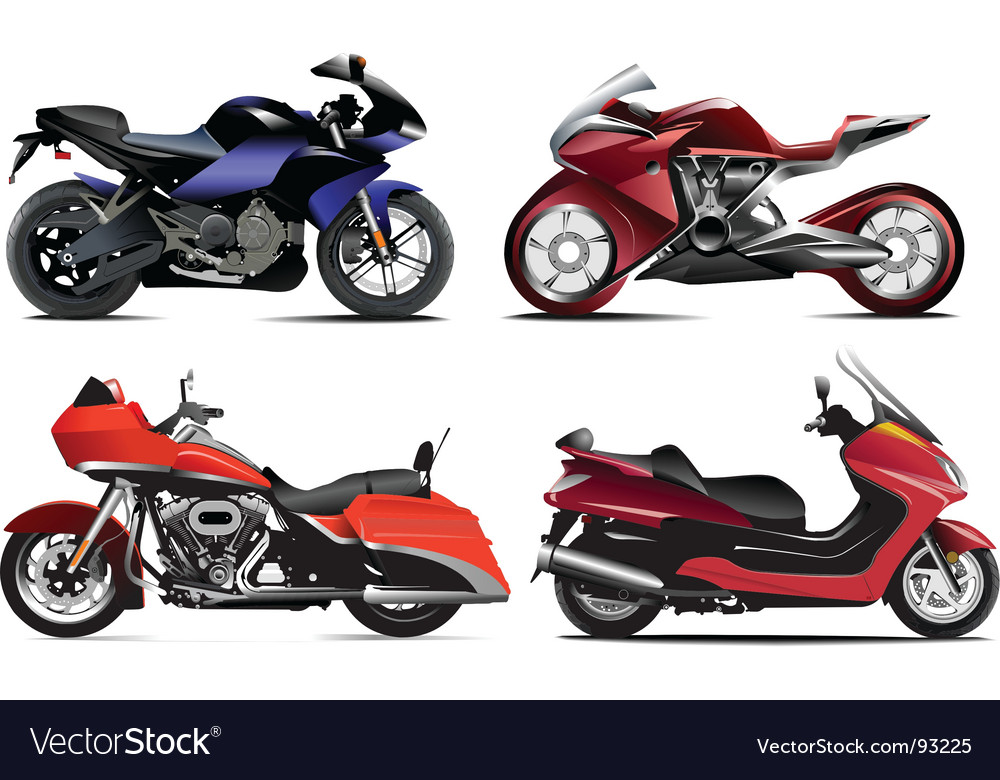 Motorcycles vector image