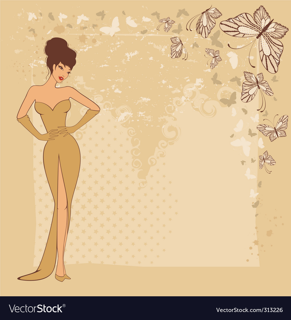 Beautiful pinup vector image