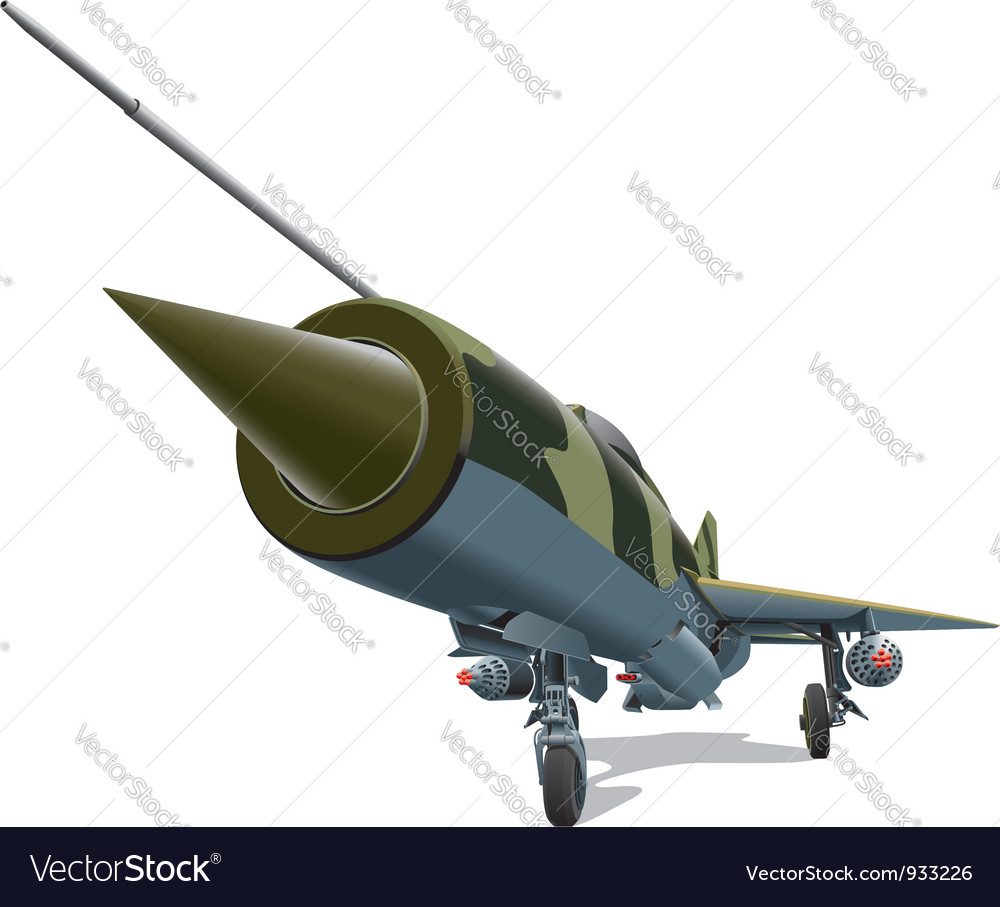 Old jet fighter vector image