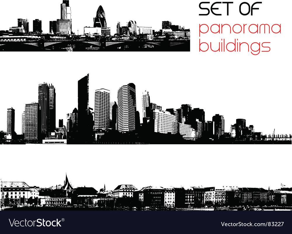 Set of cities vector image