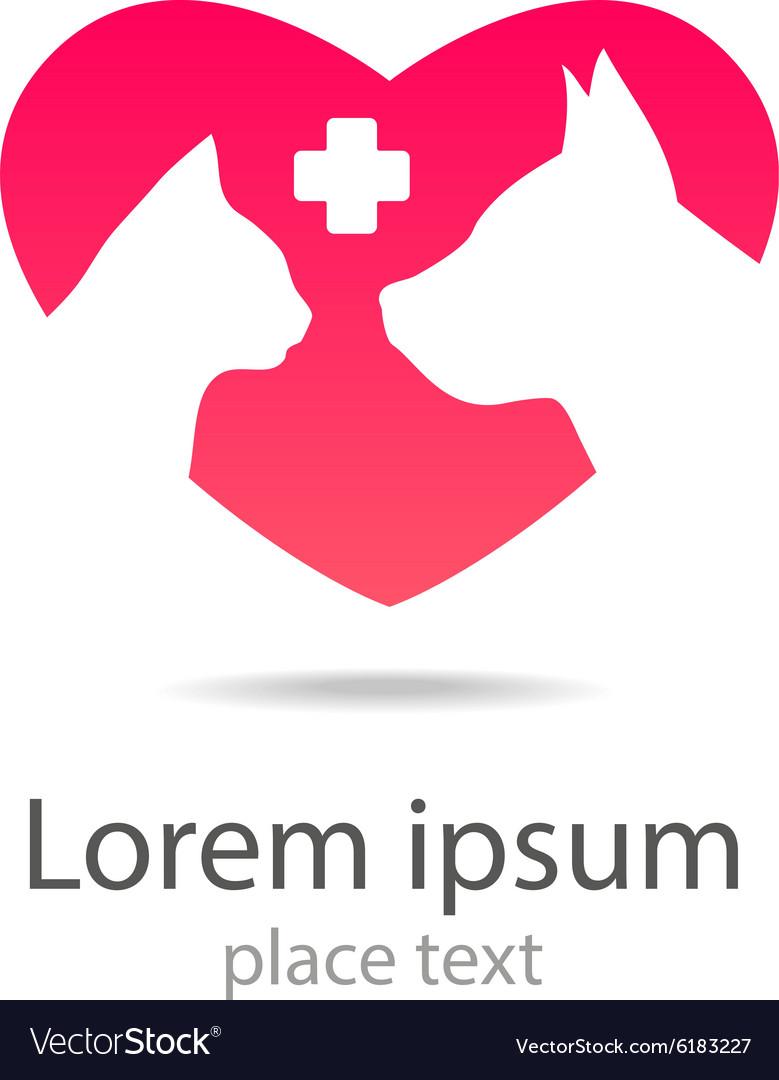Veterinary medicine logo vector image