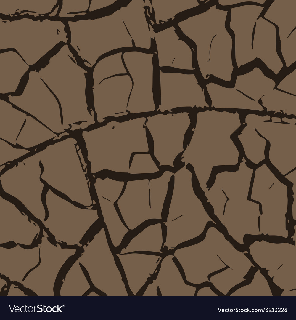 Cracks in the earth vector image