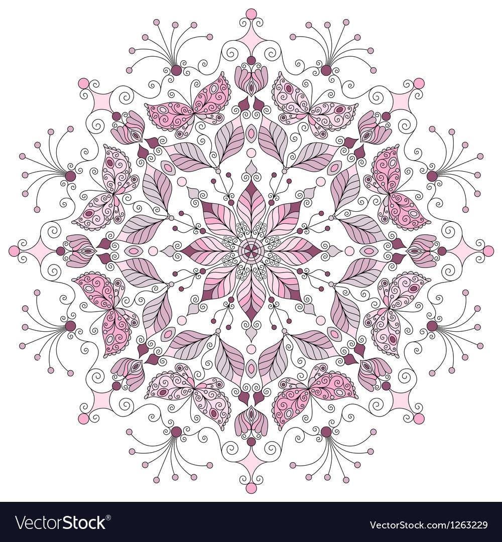 Pastel round vintage pattern vector image