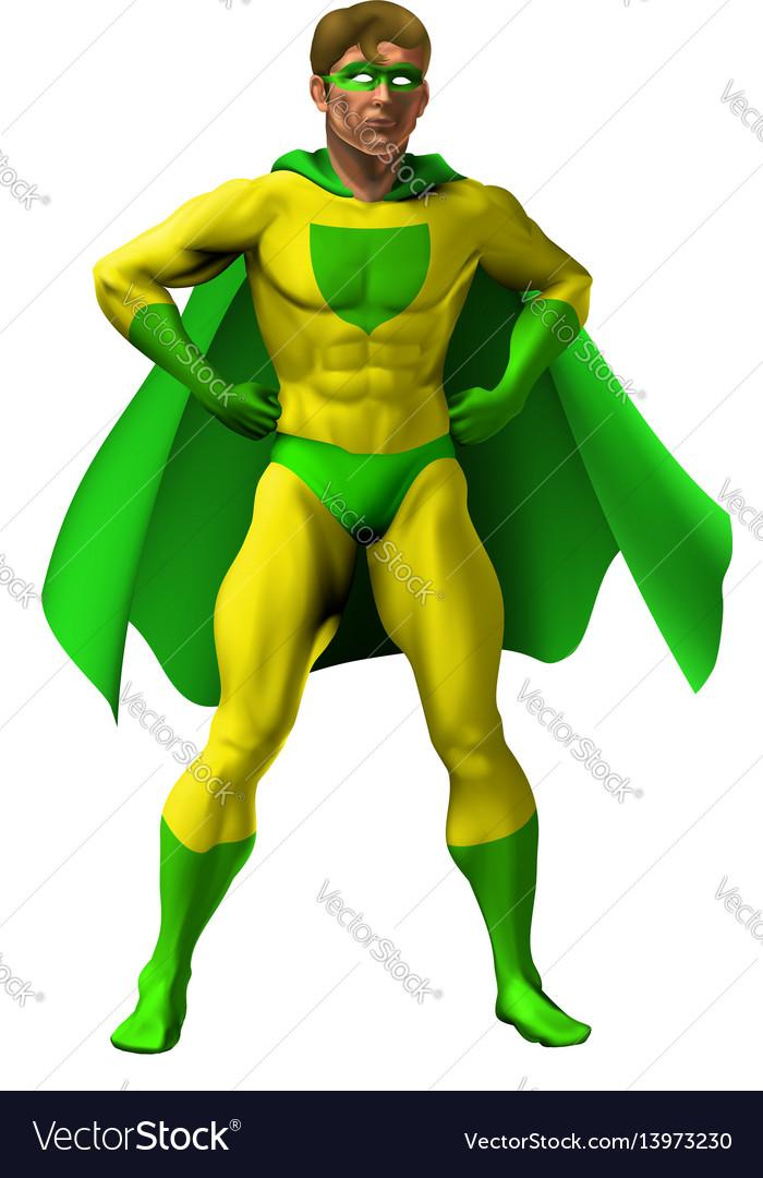 Amazing superhero vector image