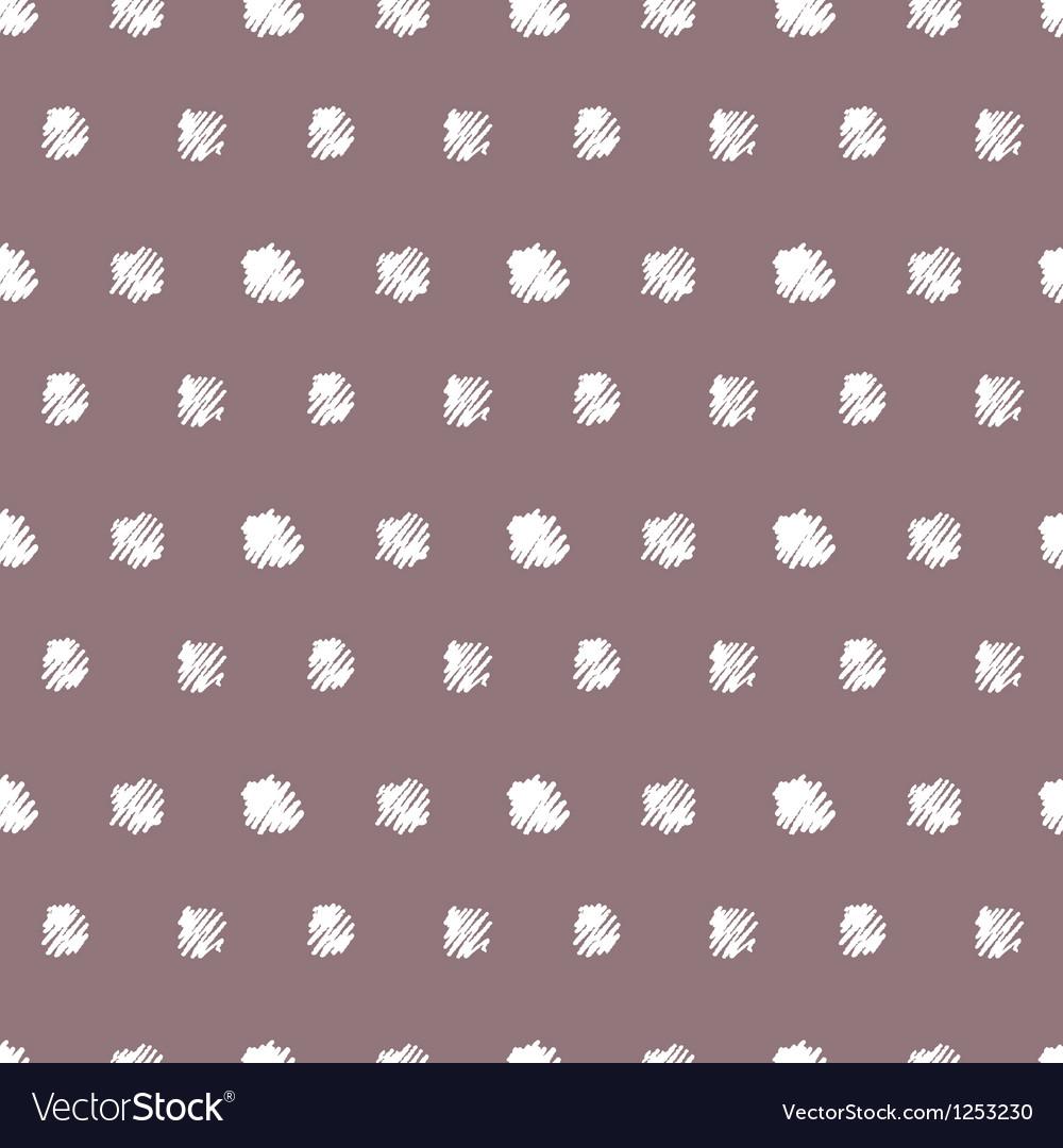 Vintage polka grunge dots seamless pattern vector image