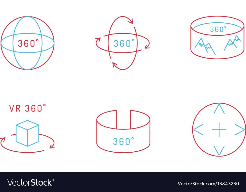Virtual reality icon vector image