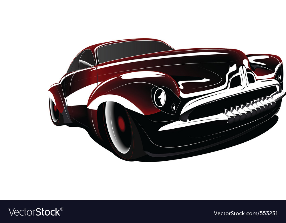 Classic Car Royalty Free Vector Image Vectorstock