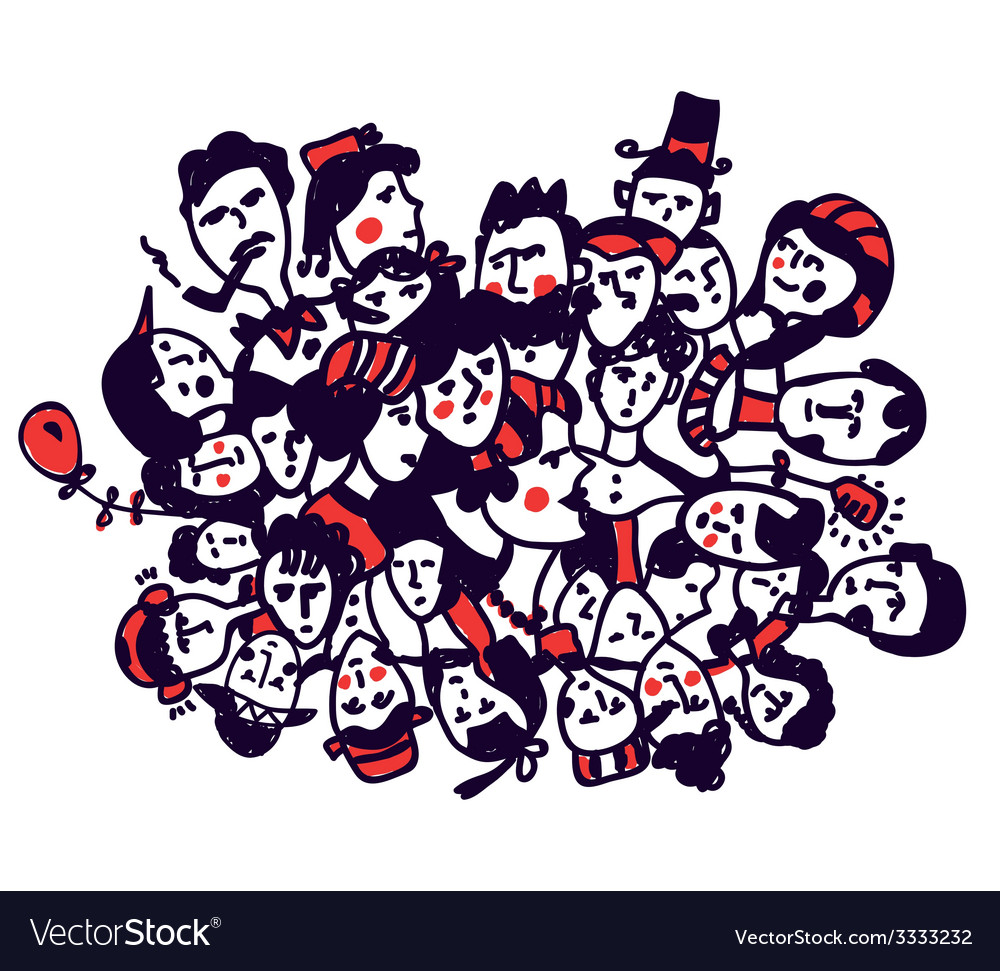 Groop of people - graphic concept vector image