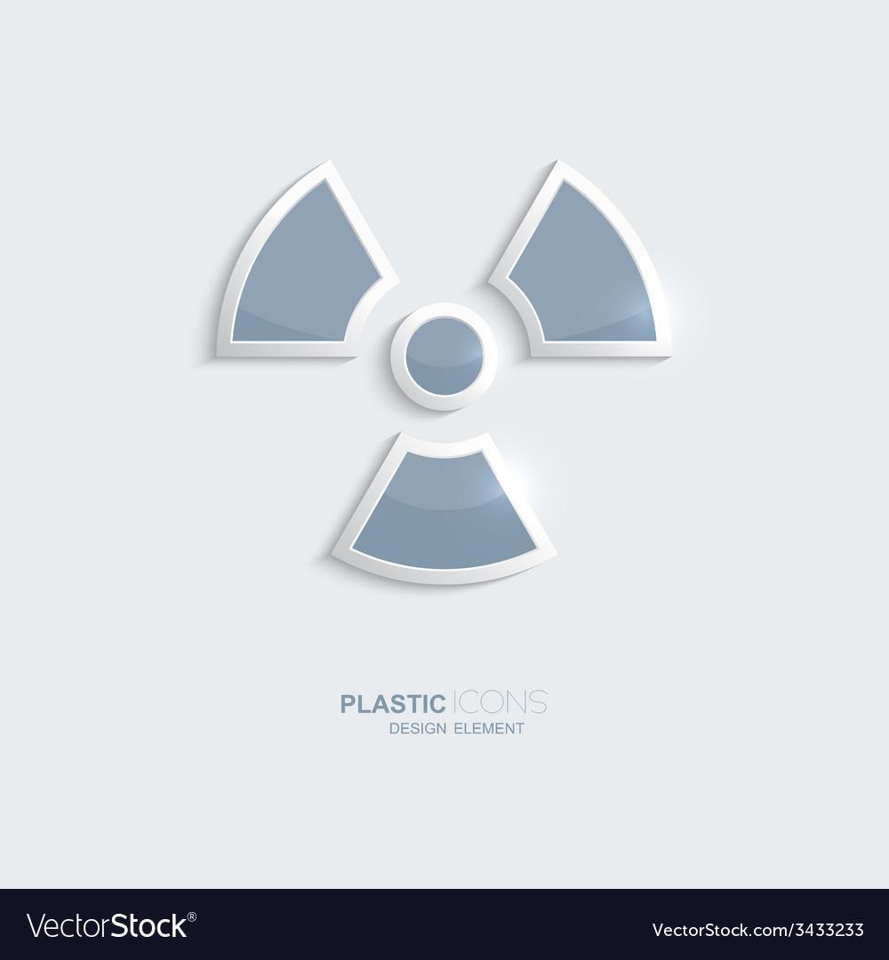 Plastic icon radiation symbol vector image