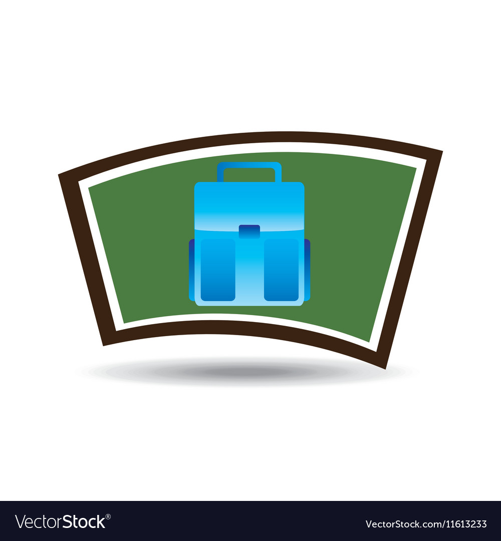 School board icon bag design vector image