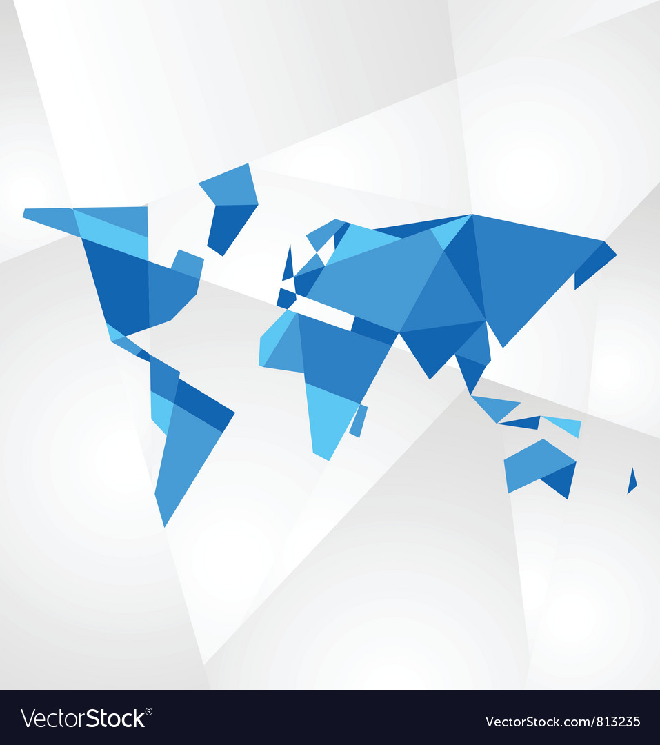 Facet world map royalty free vector image vectorstock facet world map vector image gumiabroncs Images