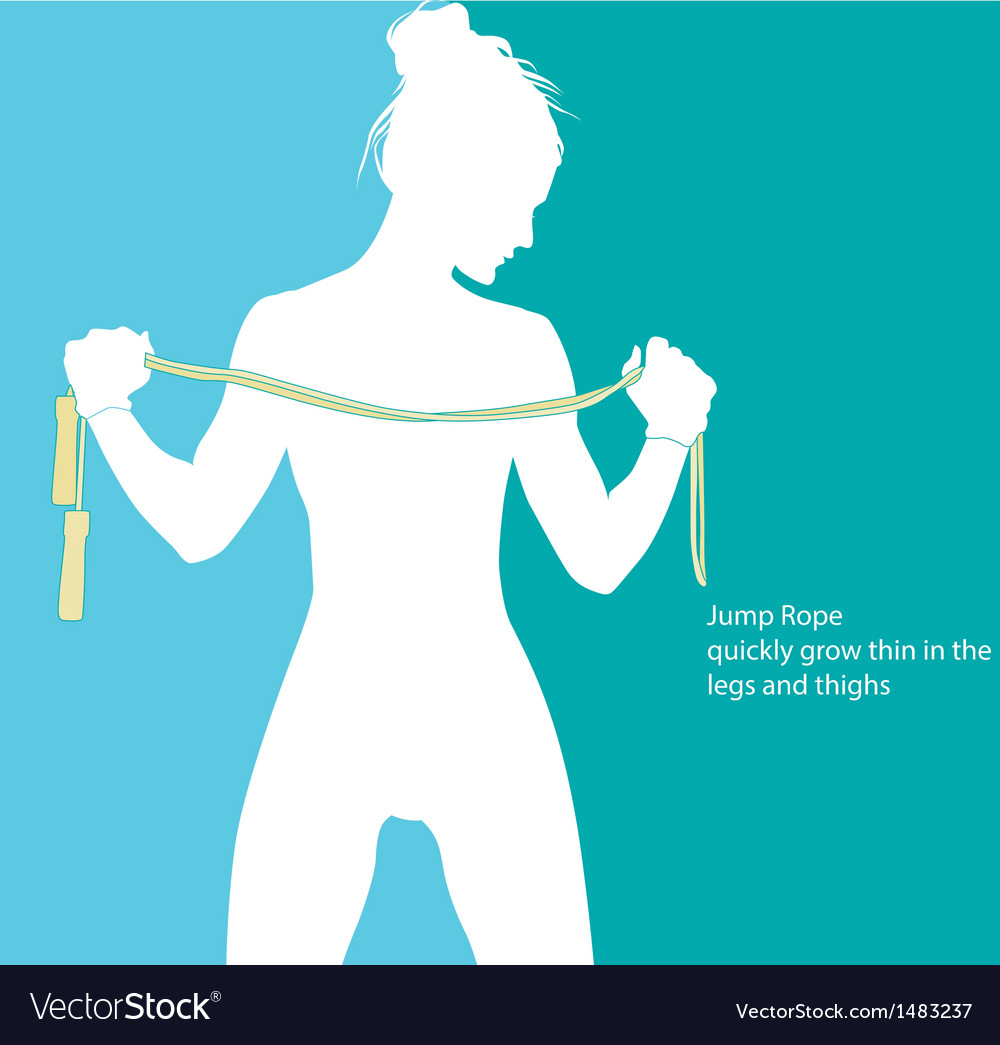 Jump Rope vector image