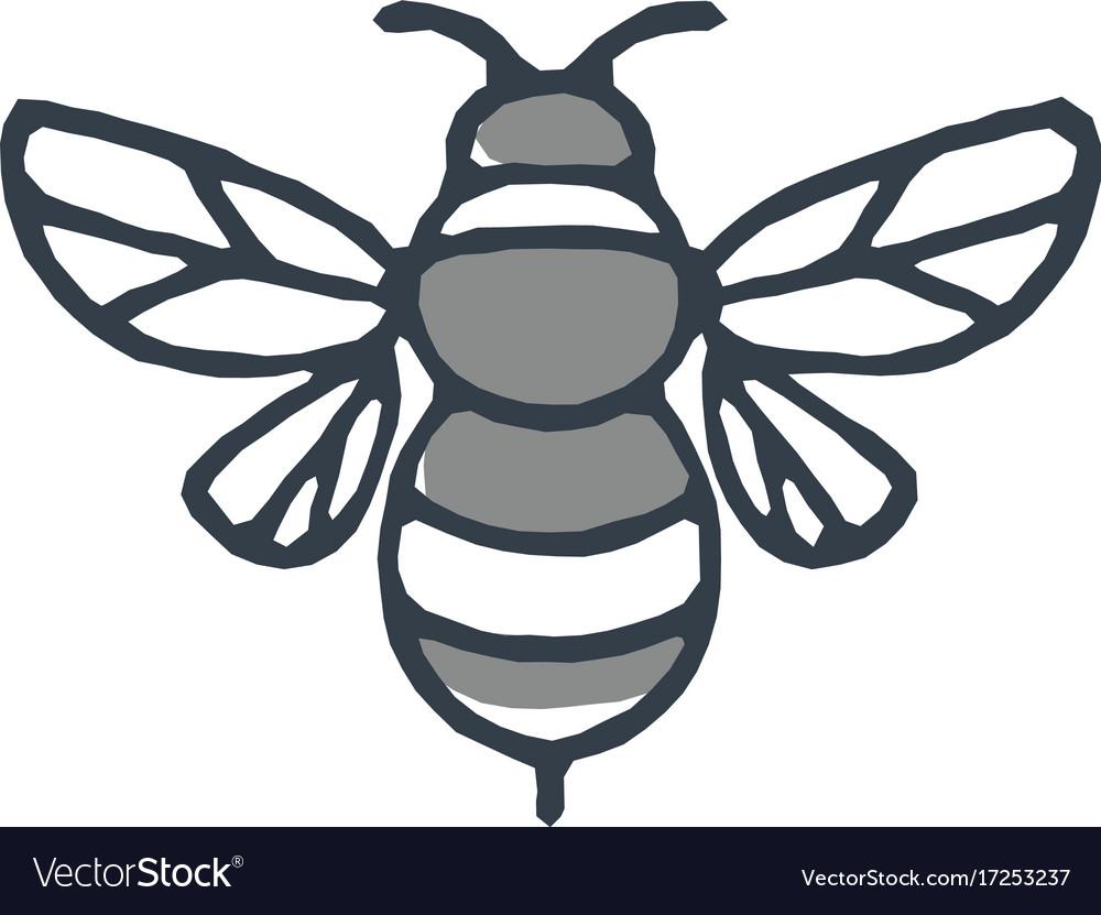 Bumblebee bee icon vector image