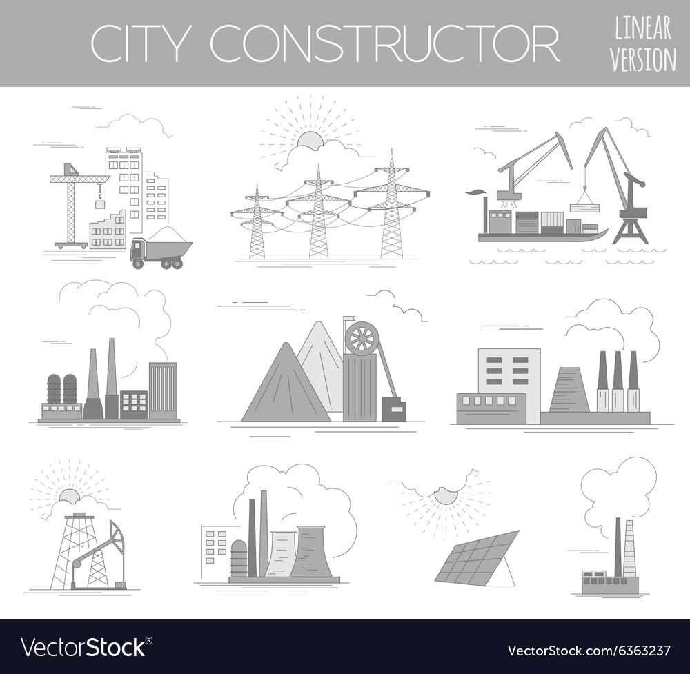 great city map creator house constructor vector image - House Map Creator
