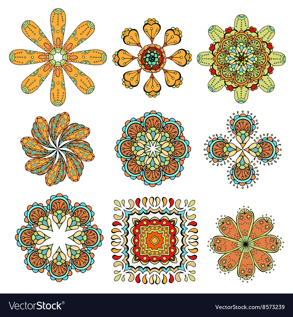 Round abstract pattern vector image