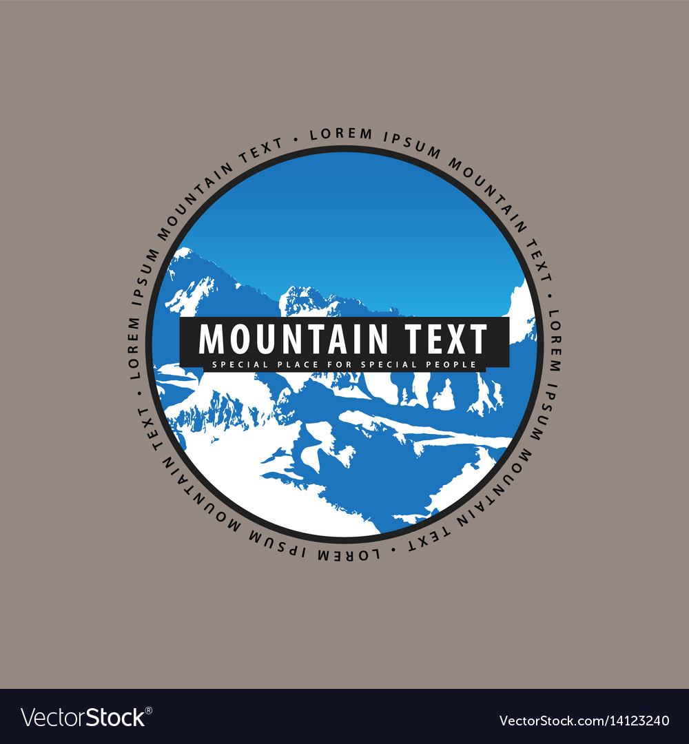 Snow-covered mountains with a place for vector image