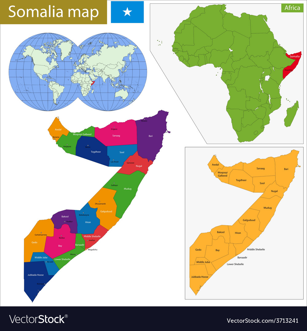 Somalia map vector image