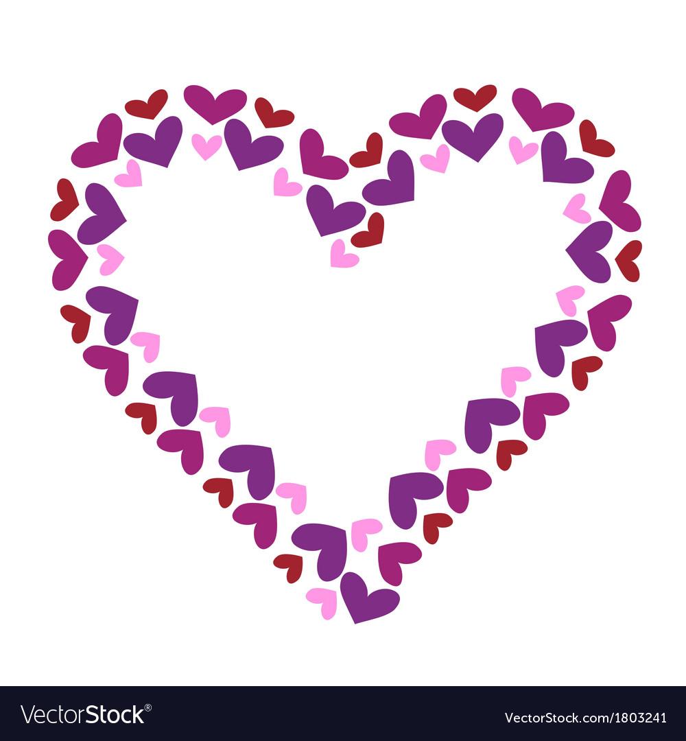 Valentine heart decorative frame vector image