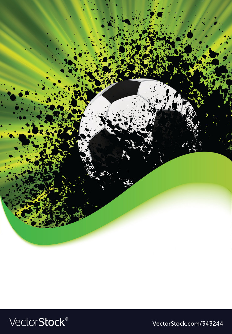 Grunge football poster  Vector Image