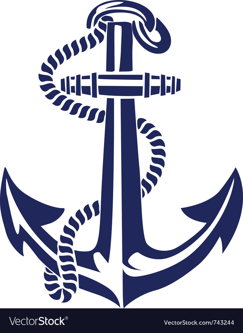Anchor stencil vector image