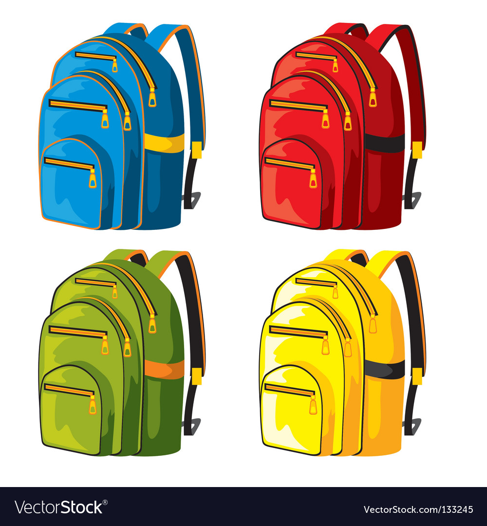 Sport backpacks Vector Image