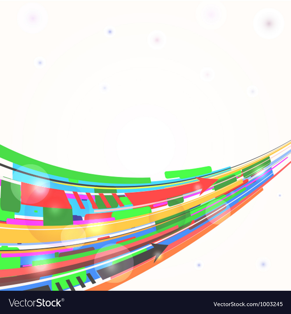 Abstract background with curved lines eps10 vector image