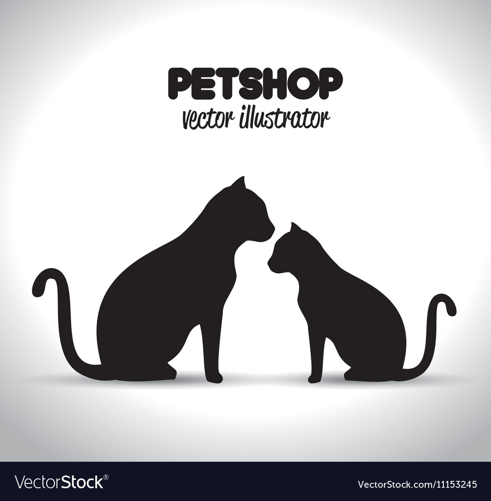 Pet shop veterinary emblem graphic vector image