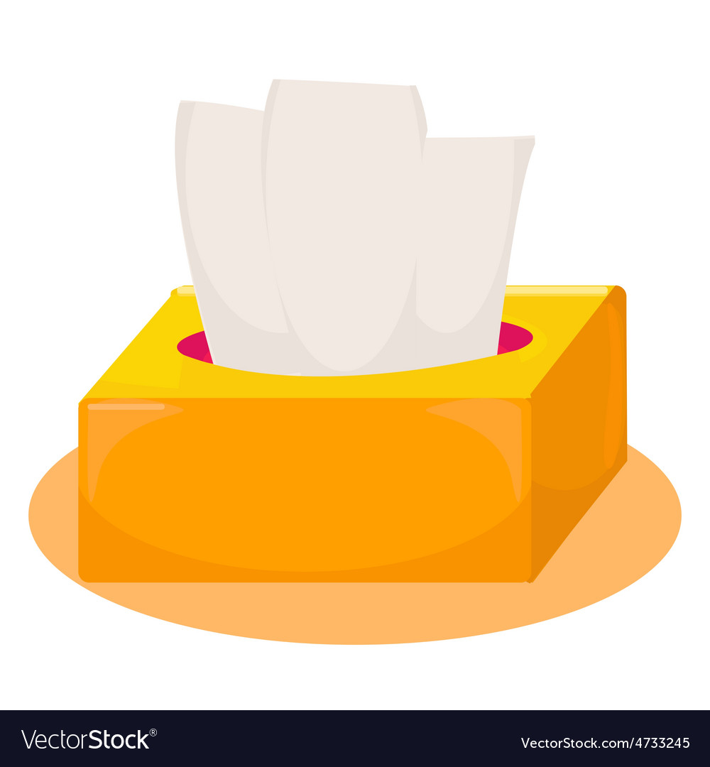 Tissue box vector image