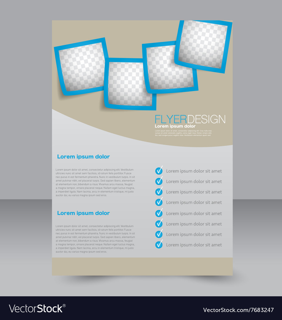Brochure design flyer template editable a4 poster vector image for Editable brochure templates