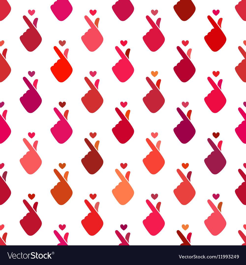 Korean sign icon symbol hand shape heart charity vector image buycottarizona Choice Image