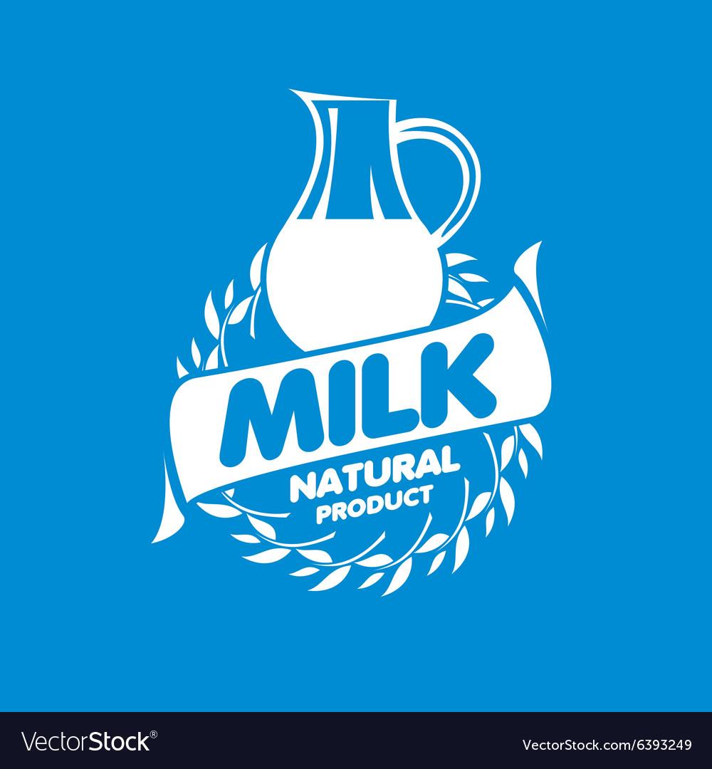 milk logo royalty free vector image vectorstock