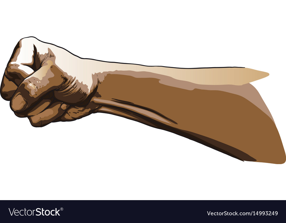 Strong punch vector image