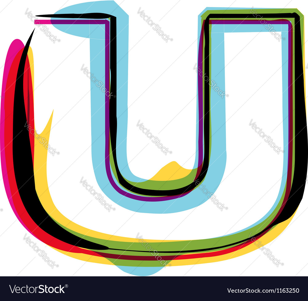 Colorful font vector image