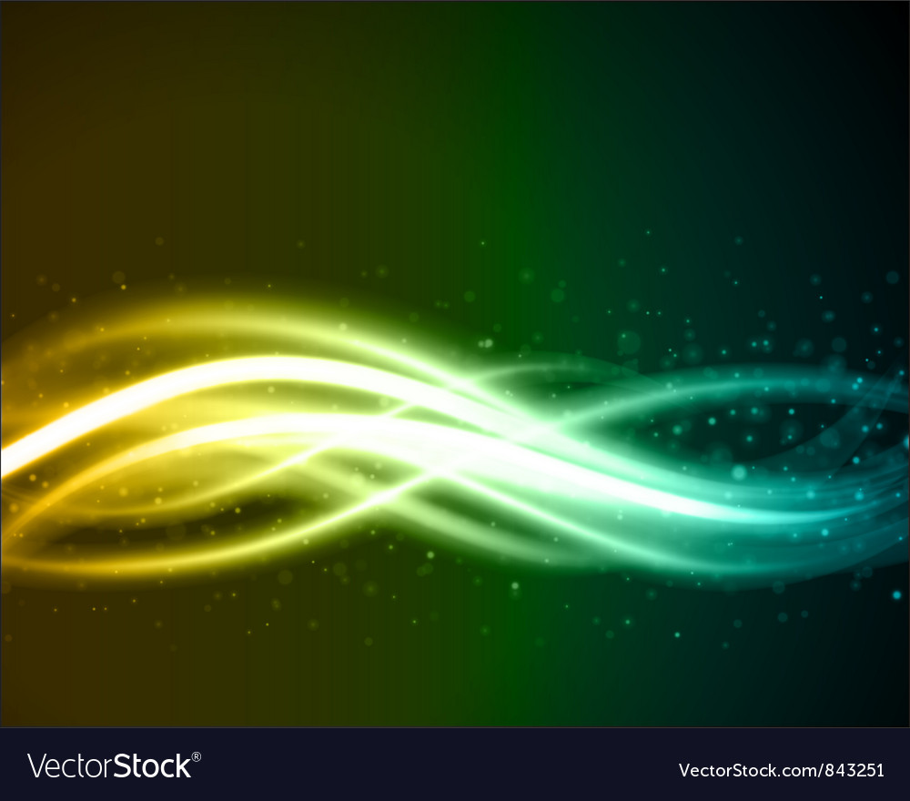 Abstract light beam vector image