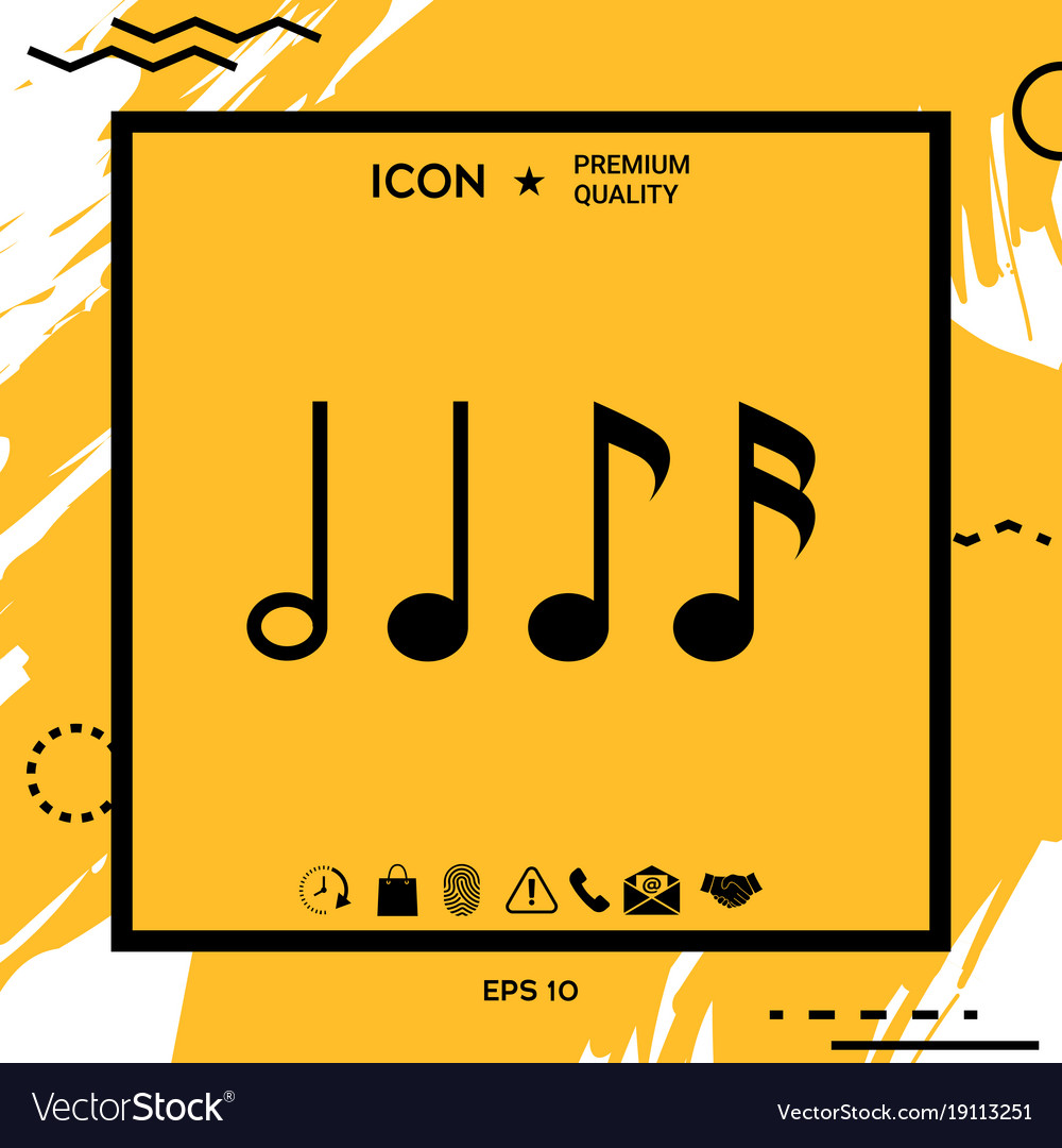 Symbol of music notes sixteenth note eighth vector image symbol of music notes sixteenth note eighth vector image buycottarizona Image collections