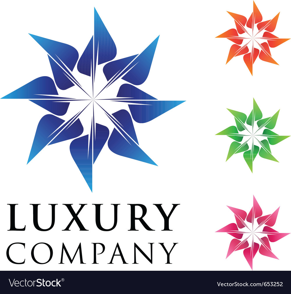Beautiful luxury business emblem design with varia vector image