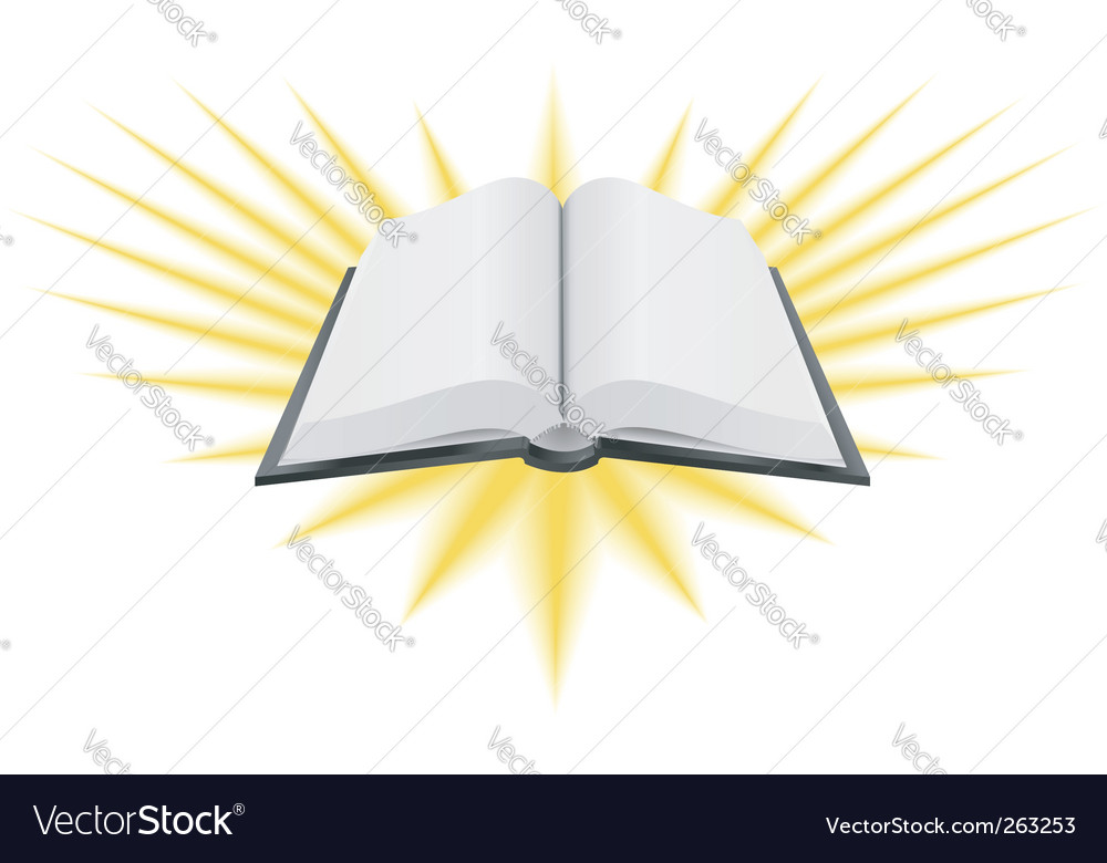 Holy book illustration vector image