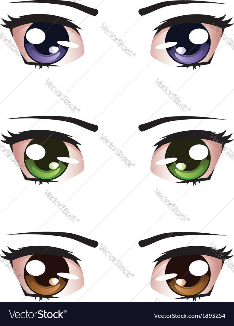 Cartoon female eyes vector image