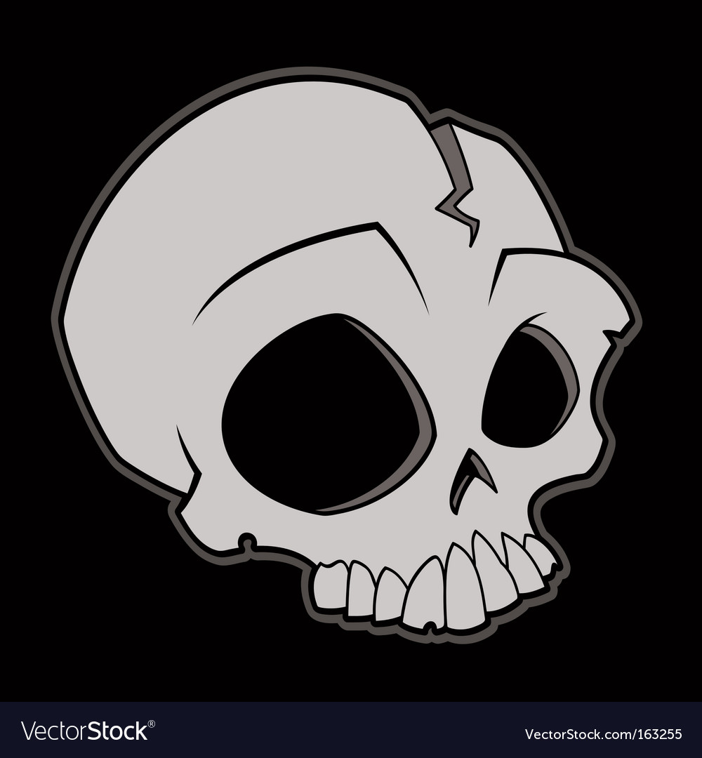 Cartoon skull vector image