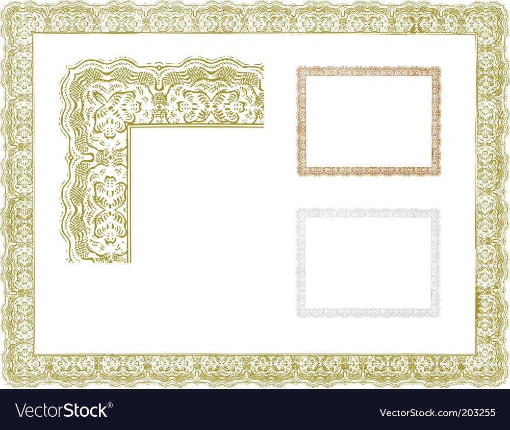 Certificate borders vector image