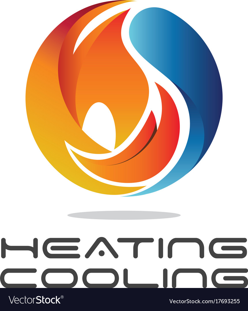 Heating cooling vector image