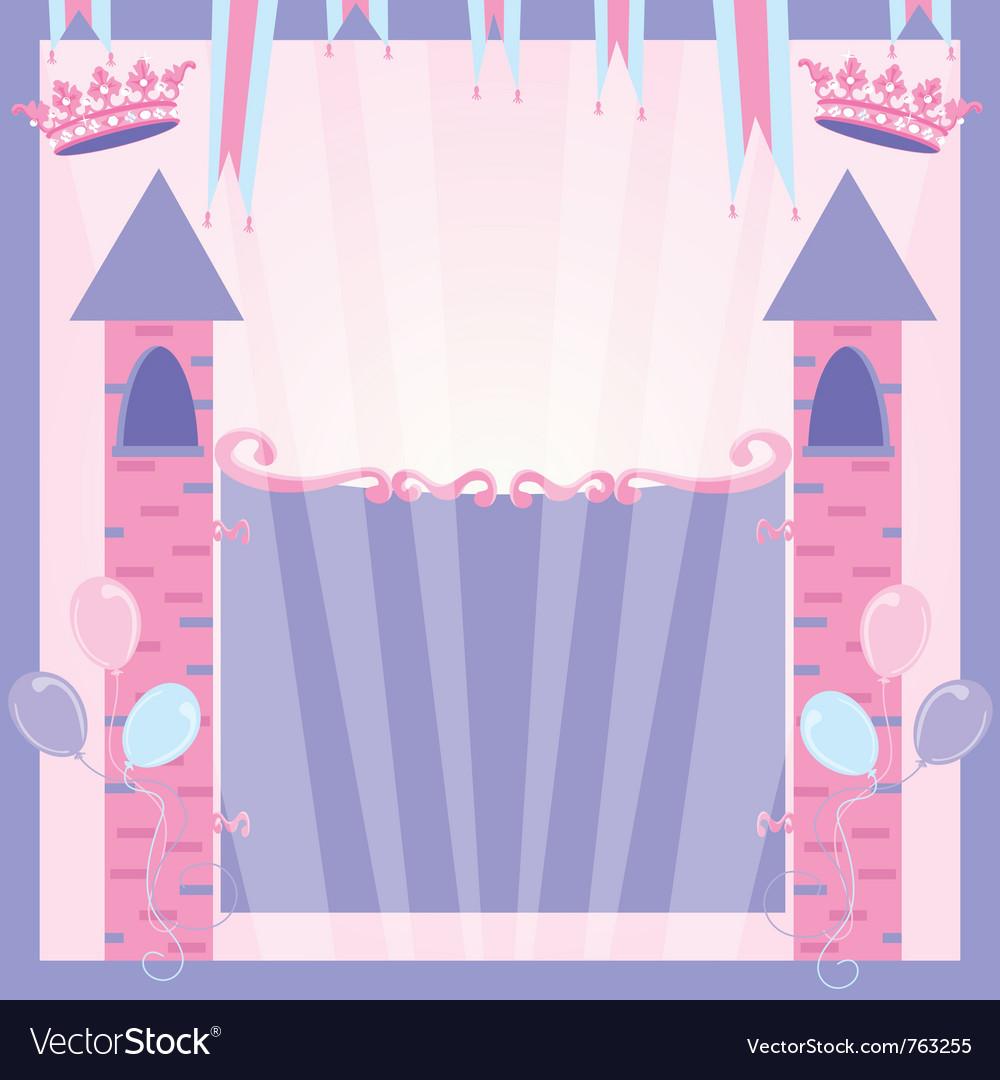 Pretty princess party vector image